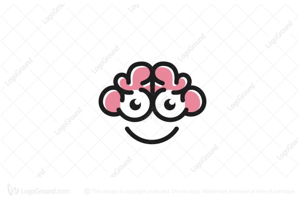 Logo for sale: Happy Brain Logo