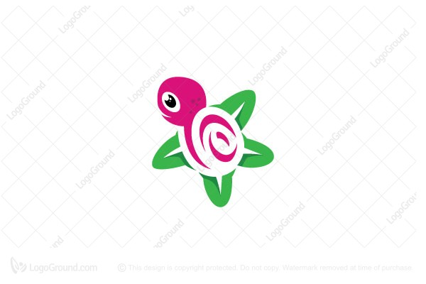 Logo for sale: Flower Turtle Logo