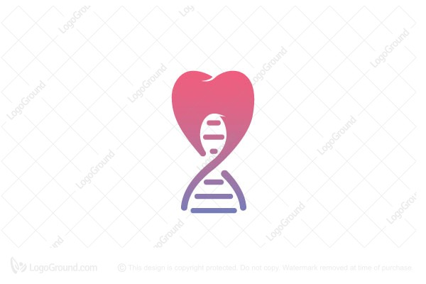 Logo for sale: Dna Tooth Logo