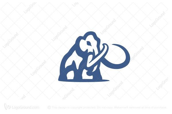 Logo for sale: Woolly Mammoth Logo