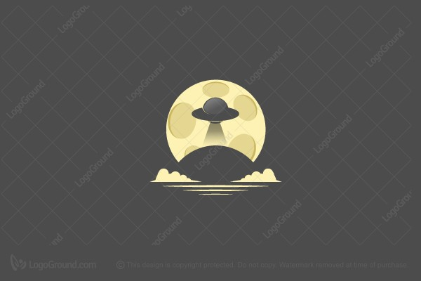 Logo for sale: Ufo And Moon Logo