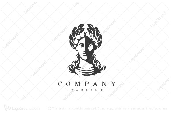 Logo for sale: Greek Lady Bust Logo