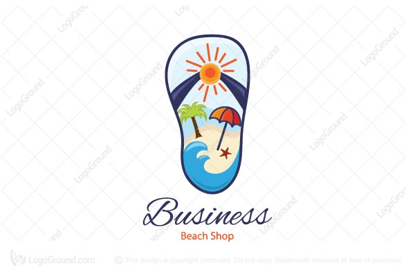 Logo for sale: Beach Shop Logo