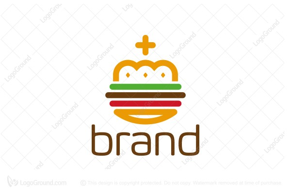 Logo for sale: Royal Hamburger Crown Logo