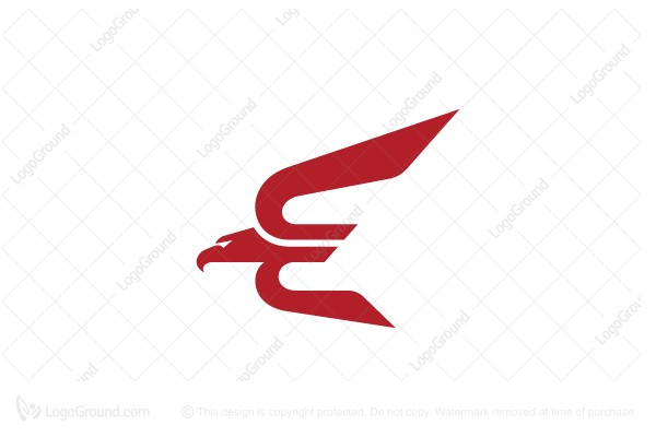 Logo for sale: Letter E Eagle Logo