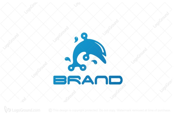 Logo for sale: Tech Dolphin Logo