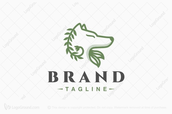 Logo for sale: Green Wolf Logo