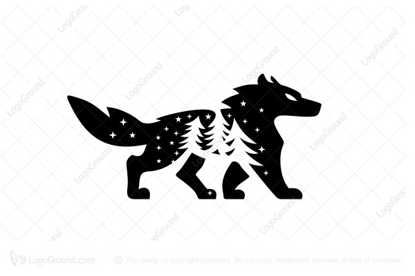 Logo for sale: Forest Wolf Logo