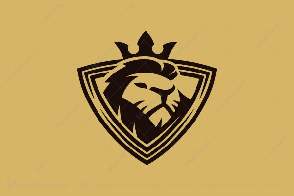Logo for sale: Lion Emblem Logo