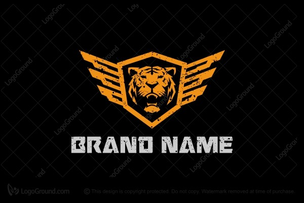 Logo for sale: Military Tiger Wings Logo