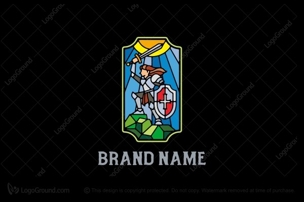 Logo for sale: Knight Stained Glass Logo