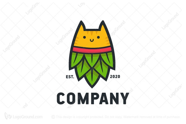 Logo for sale: Cat Hop Logo