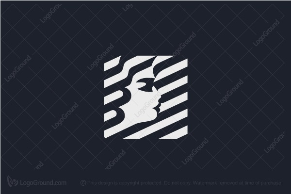Logo for sale: Female Face Logo
