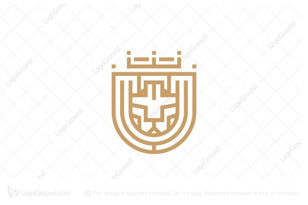 Logo for sale: Royal Lion Ball Shields Logo