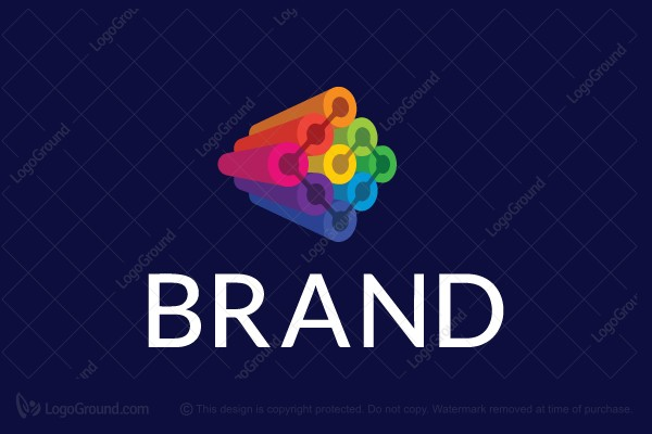 Logo for sale: Colorful 3d Logo