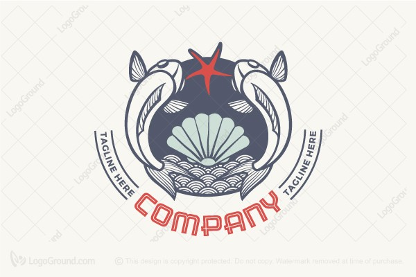 Logo for sale: Marine Badge Logo