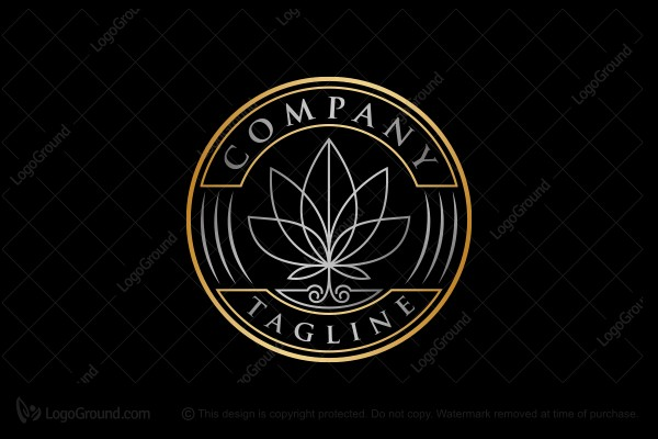Logo for sale: Elegant Cannabis Emblem Logo