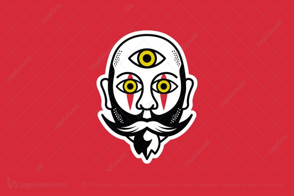 Logo for sale: Third Eye Man Face Logo