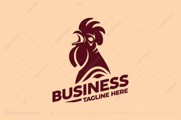 Logo for sale: Crowing Rooster Logo