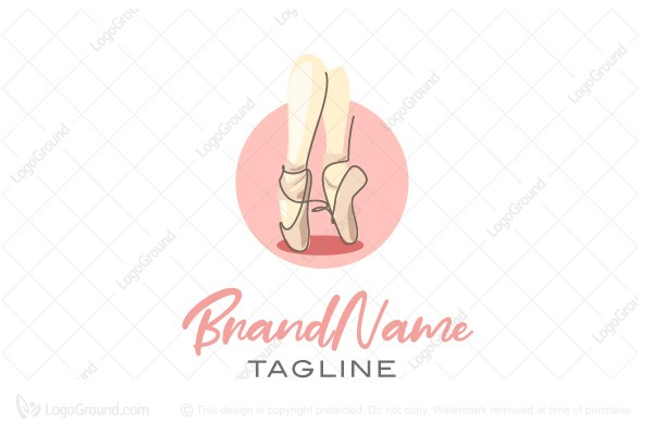 Logo for sale: Sweet Ballet Shoe Logo