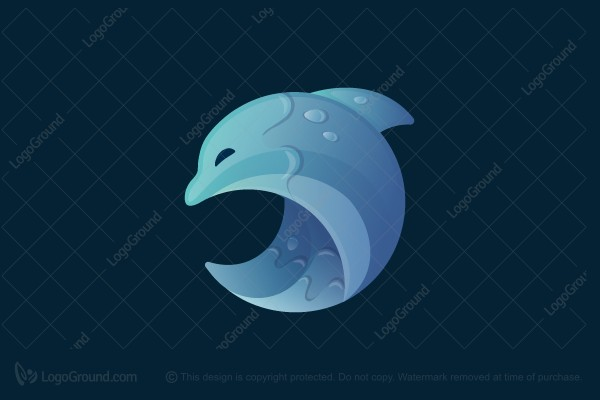 Logo for sale: Dolphin Wave Logo