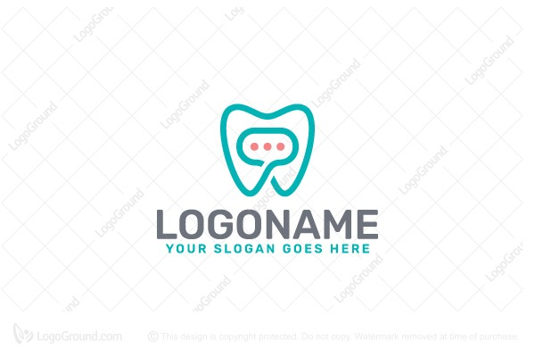 Logo for sale: Dental Chat Logo