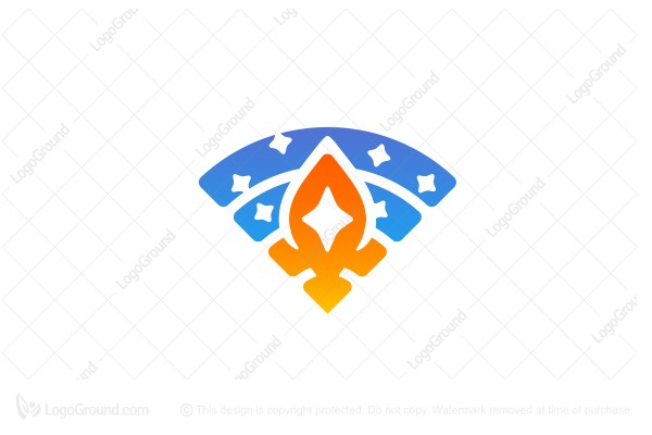 Logo for sale: Wifi Rocket Logo