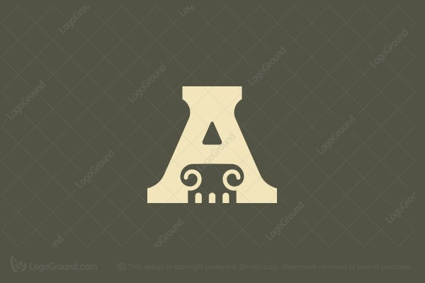 Logo for sale: A And Column Logo