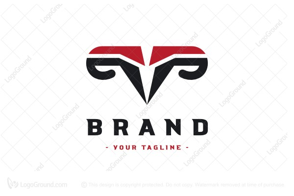 Logo for sale: Abstract Ram Letter P Logo