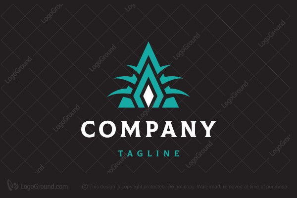 Logo for sale: Letter A Diamond Arches Logo