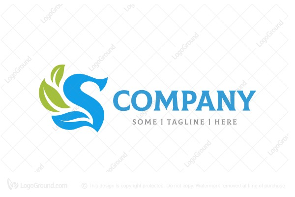 Logo for sale: Letter S Leaf Logo