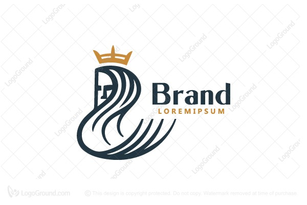 Logo for sale: Long Hair Queen Logo