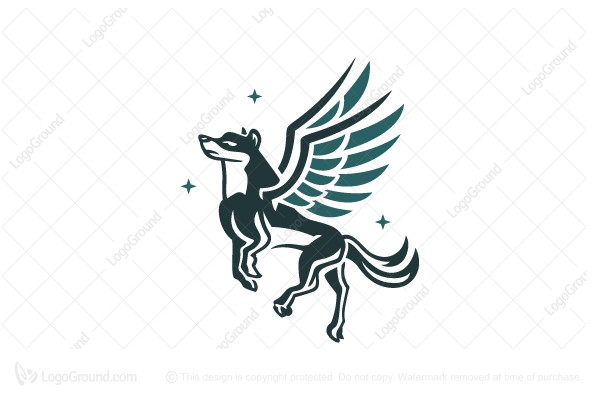 Logo for sale: Flying Wolf Logo