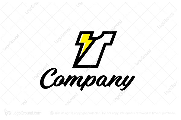 Logo for sale: Thunder T-shirt Logo