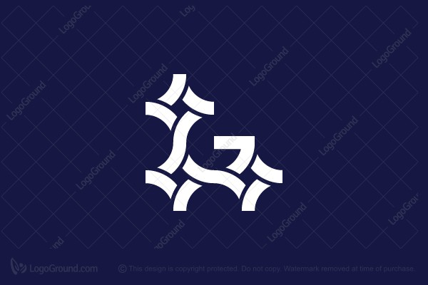 Logo for sale: Letter G Stars Logo