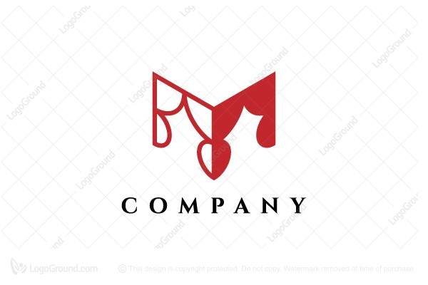 Logo for sale: Letter M Curtains Logo