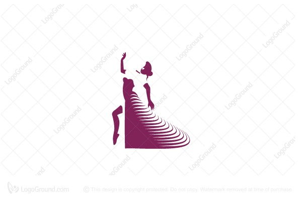 Logo for sale: Dancing Lady Logo