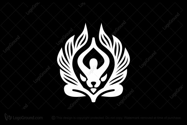 Logo for sale: Yoga And Lion Logo