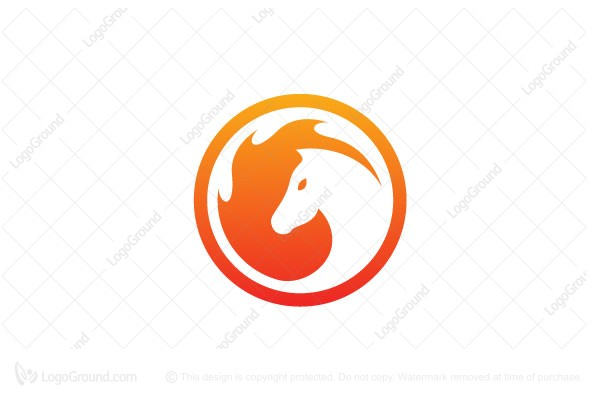 Logo for sale: Circle Fire Horse Logo Designs