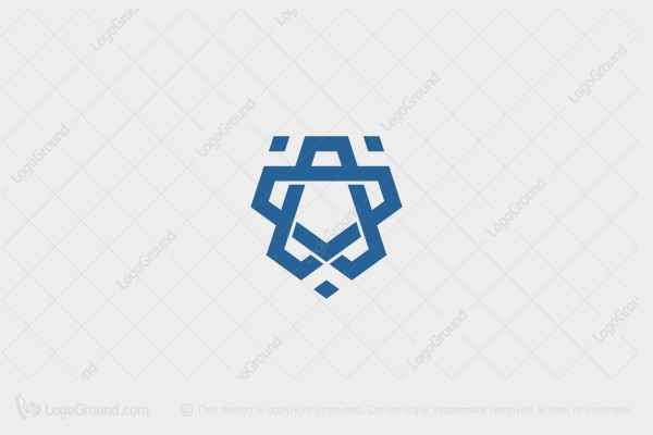 Logo for sale: Minimal King Lion Logo