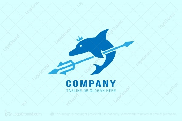 Logo for sale: The King of Dolphin Logo