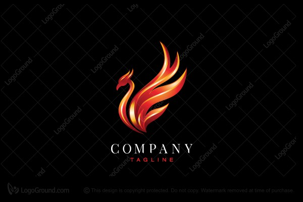 Logo for sale: Stylish Phoenix Logo