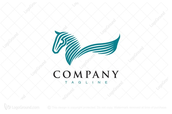 Logo for sale: Stylish Pegasus Logo