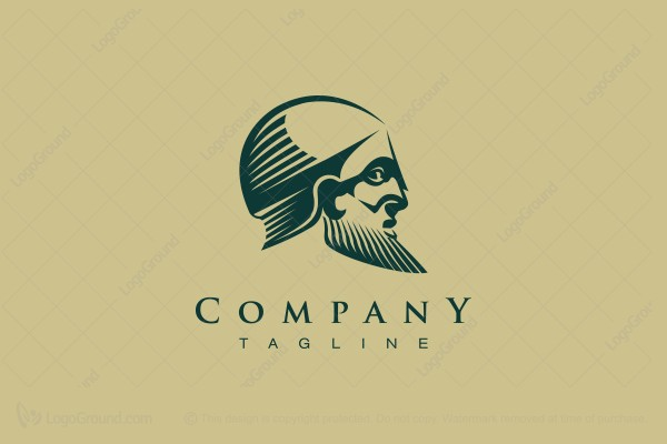 Logo for sale: Ancient Persian Soldier Logo