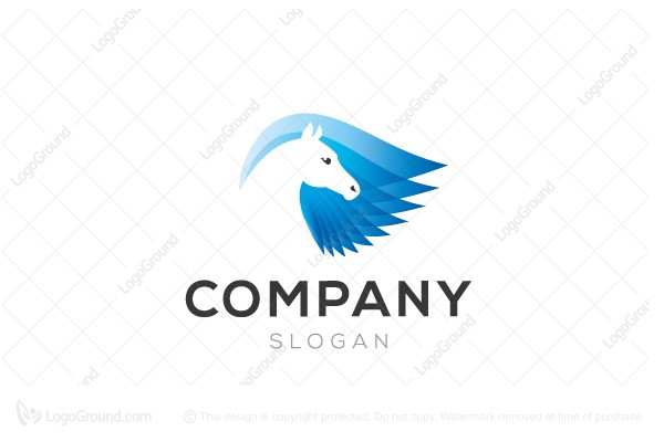 Logo for sale: Winged Horse Logo