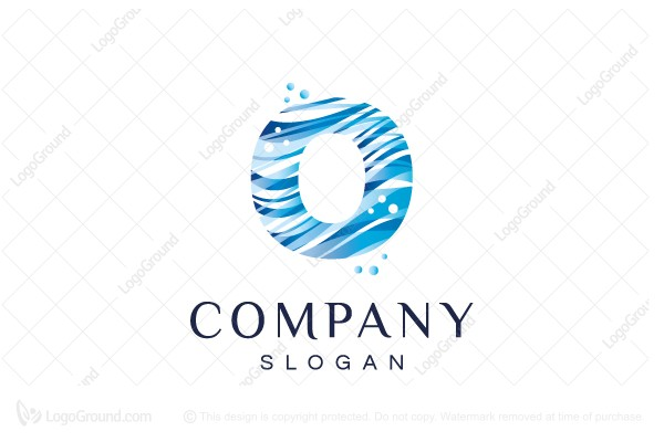 Logo for sale: Water Wave O Logo
