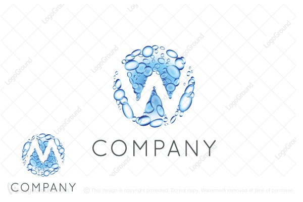 Logo for sale: Water W Or M Logo