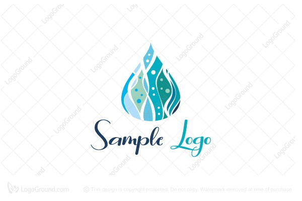 Logo for sale: Wave Drop Logo