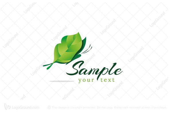 Logo for sale: Leaf Butterfly Logo