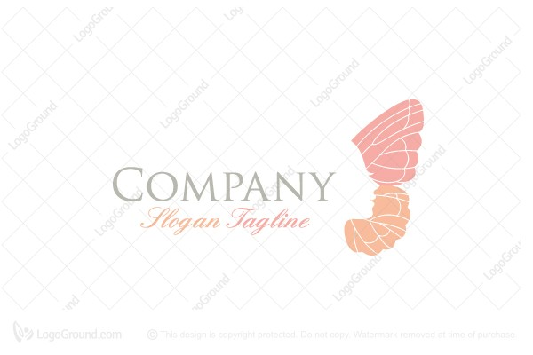 Logo for sale: Butterfly Face Logo